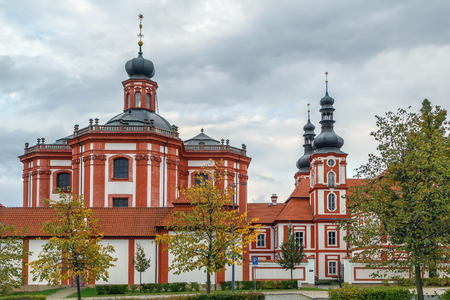 Marianska Tynice is a former pilgrimage destination in Czech Republic with Baroque Church of the Annunciation