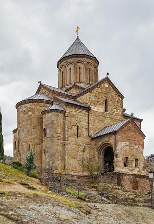 Virgin Mary Metekhi church in Tbilisi, Georgia Stock Photo