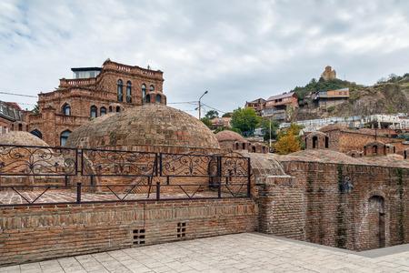 Abanotubani sulfur baths in the Old Town of Tbilisi, Georgia