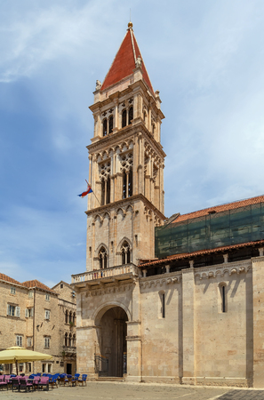 Cathedral of St. Lawrence is a Roman Catholic basilica constructed in Romanesque-Gothic in Trogir, Croatia