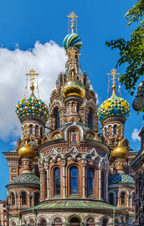 Church of the Savior on Spilled Blood is one of the main sights of Saint Petersburg, Russia. Stok Fotoğraf