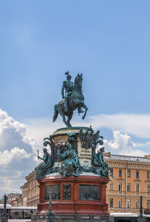 Monument to Nicholas I is a bronze equestrian monument of Nicholas I on St Isaacs Square in Saint Petersburg, Russia.