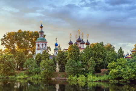Church of the Assumption of the Blessed Virgin Mary on Vologda river, Vologda, Russia