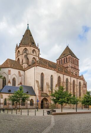 The church of St. Thomas is the main Lutheran church of the Strasbourg, Alsace, France