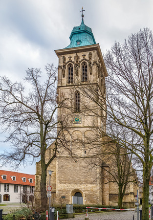 st. Martini church baroque catholic church in the historic center of Munster, Germany