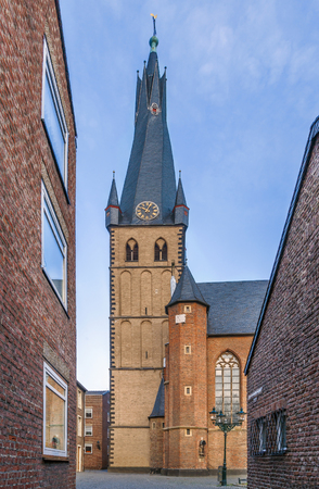 St Lambertus church is Roman Catholic church in Dusseldorf historic center, Germany Stock Photo