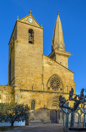 San Pedro is a Romanesque and Gothic style, Roman Catholic church, Olite, region of Navarre, Spain.