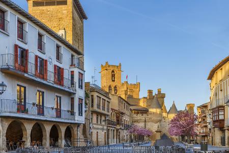 Street in Olite, Navarre, Spain Stock Photo