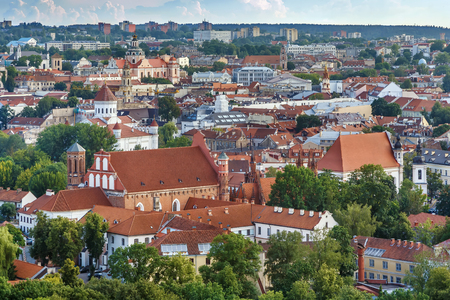 Cityscape of Vilnius from  Three Crosses hill, Lithuania