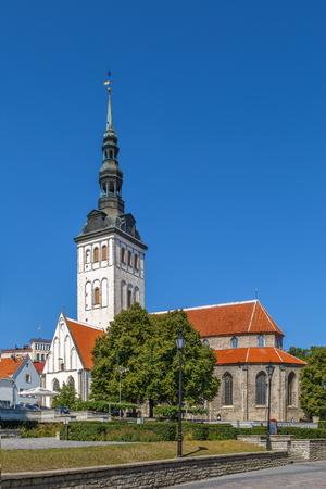 St. Nicholas Church is a medieval former church in Tallinn, Estonia Stock Photo