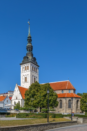 St. Nicholas Church is a medieval former church in Tallinn, Estonia Stockfoto