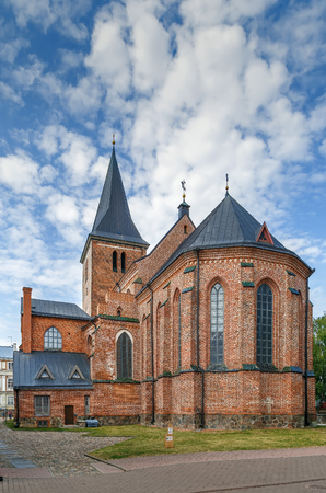 St. John Church, Tartu is a Brick Gothic Lutheran church, one of the landmarks of the city of Tartu, Estonia Фото со стока