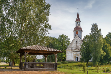 St. Andrew Church in Sangaste, Estonia. The first mention of the church dates back to 1379