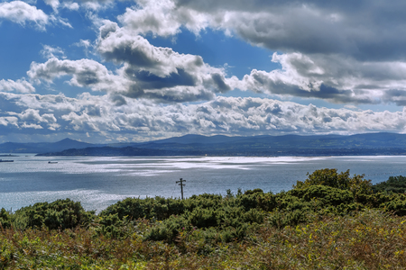 View of Dublin bay from Howth, Ireland