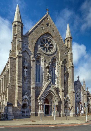 St. Mary of the Angels Church, Dublin, Ireland. Facade Stock Photo