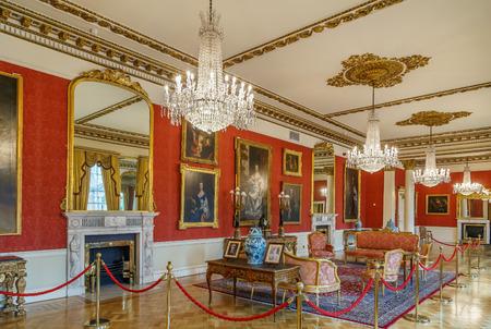 Interior royal room in Dublin catle, Ireland