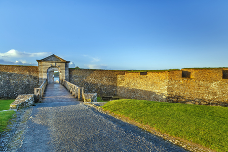 Charles Fort is a trace italien fortification, a bastion fort in Kinsale, Ireland Imagens
