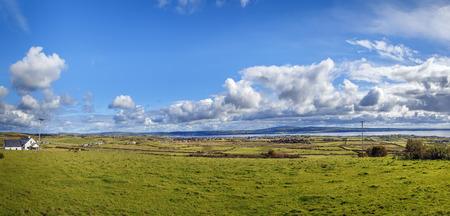 Landscape with Atlantic Ocean Bay near Cliffs of Moher, Ireland