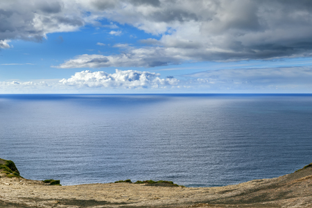View of Atlantic ocean near Cliffs of Moher, County Clare, Ireland