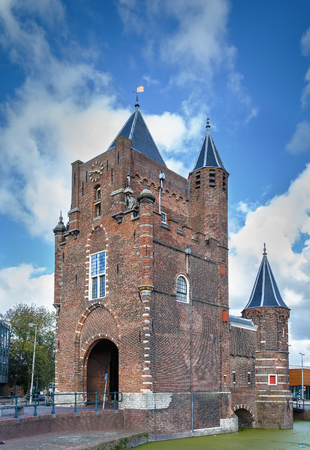 Amsterdamse Poort is an old city gate of Haarlem, Netherlands