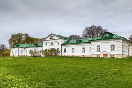 Volkonskiy house is the oldest structure in Yasnaya Polyana estate, Russia Stock Photo