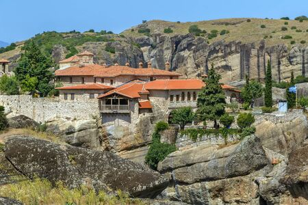 View of Monastery of the Holy Trinity in Meteora, Greece Archivio Fotografico