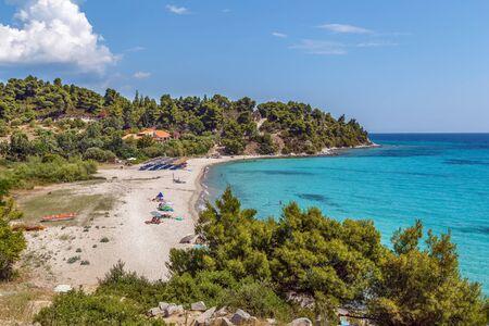 Agios Ioannis beach on Sithonian peninsula, Chalkidiki, Greece Stock Photo