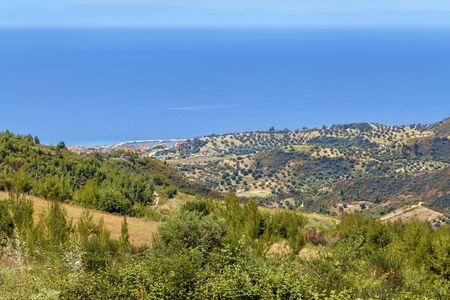 Hilly landscape on the Kassandra peninsula, Chalkidiki, Greece