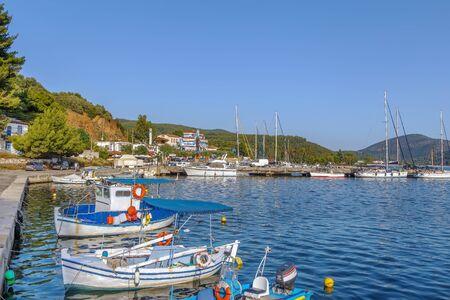 Fishing port in Porto Koufo on Sithonia peninsula, Chalkidiki, Greece