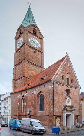 Church of All Saints (German: Allerheiligenkirche) also known as Holy Cross Church (German: Kreuzkirche), is a cemetery church in Munich, Germany Stock Photo