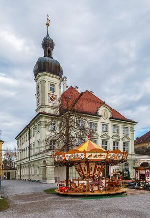 Town Hall of Altotting on main square, Germany Stockfoto - 130102217