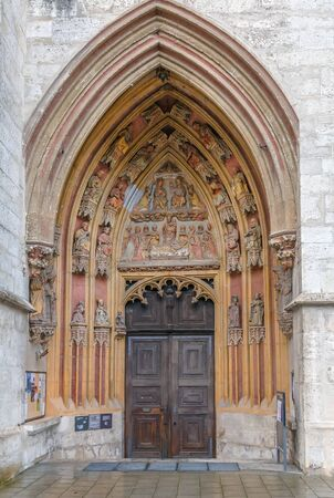 Portal of Eichstatt Cathedral Church of the Blessed Virgin Mary, Germany