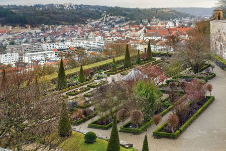 Bastionsgarten is a botanical garden on the forge bastion of Willibaldsburg in Eichstatt, Germany Archivio Fotografico