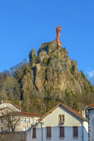 Statue of Notre-Dame de France in Le Puy-en-Velay, France