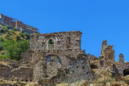 View of Mistra ruins and vicinity, Greece