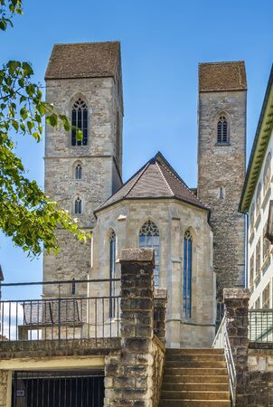 St. John's Church in Rapperswil is mixed style church dating back to the 12th century, Switzerland