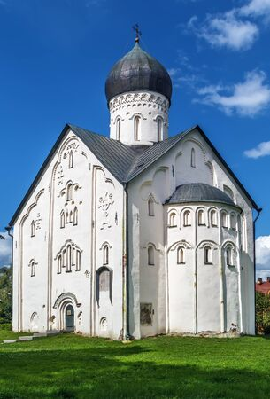 Church of the Transfiguration of Our Savior on Ilyina Street was build in 1374 in Veliky Novgorod, Russia.