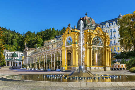 Main Spa Colonnade in Marianske Lazne, Czech republic. Neo-Baroque colonnade was built between 1888 and 1889. Editorial