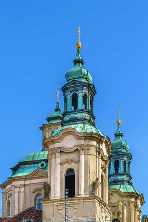 St. Nicholas Church in the Old Town Square is constructed in a Baroque style, Prague, Czech republic