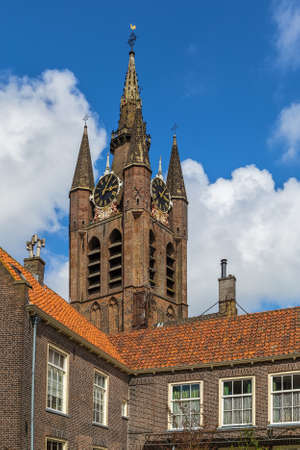 Oude Kerk (Old Church) is a Gothic Protestant church in the old city center of Delft, Netherlands