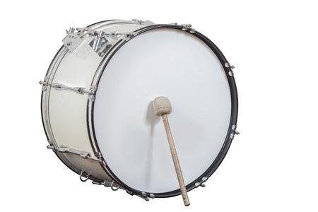 lassic instrumento musical tambor grande aislado en el fondo blanco