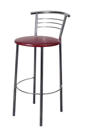 stools: bar stools on high legs isolated on white background