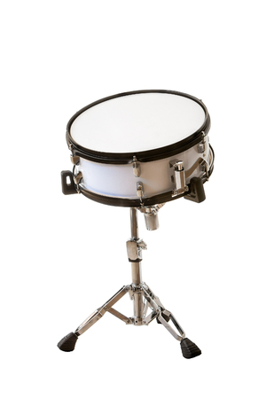 drumset: classic musical instrument snare drum isolated on white background Stock Photo