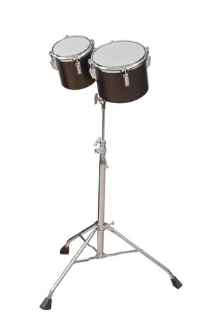 percussion instrument: classic Percussion instrument Tom-Toms isolated on white background