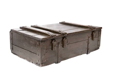 wooden crate: wooden crate isolated on a white background
