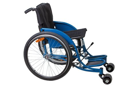 wheelchair isolated on white background Stock Photo