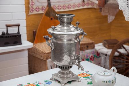 samovar: the samovar on the table Stock Photo