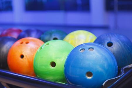 bowling balls close up Zdjęcie Seryjne
