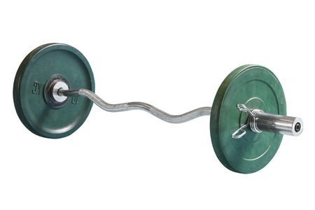 sports barbell isolated on white background