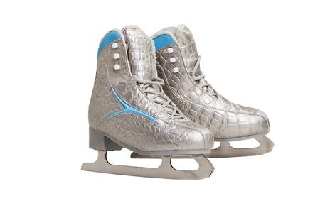 sports figure skates isolated on white background Stock Photo